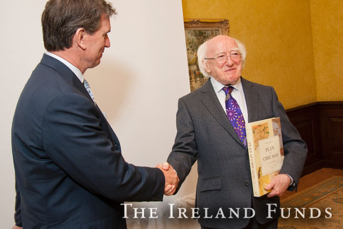 Michael D. Higgins, The Ireland Funds, Chicago Club